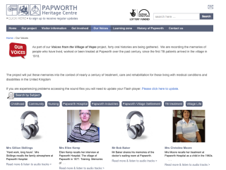 Papworth Hospital Heritage Trust Web Design