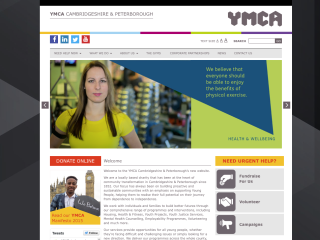 YMCA Cambridge & Peterborough Web Design